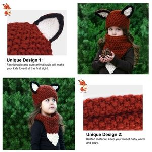 Other - Fox Hat with Scarf for Kids